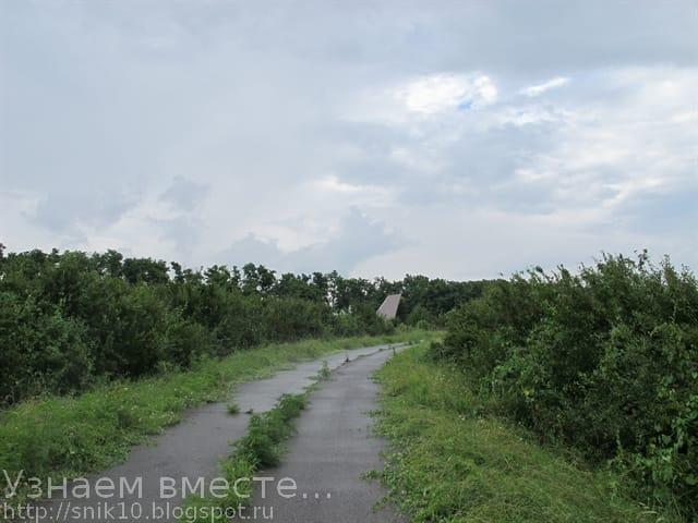 Дорога к местам памяти артиллеристов в мемориальном комплексе