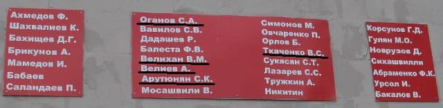 Отличие фамилий артилеристов в мемориальном комплексе и памятнике в селе Большие Салы