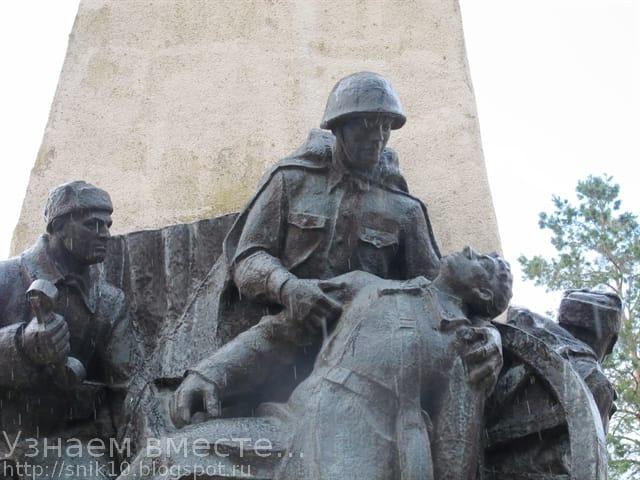 Памятник артиллеристам в селе Большие Салы