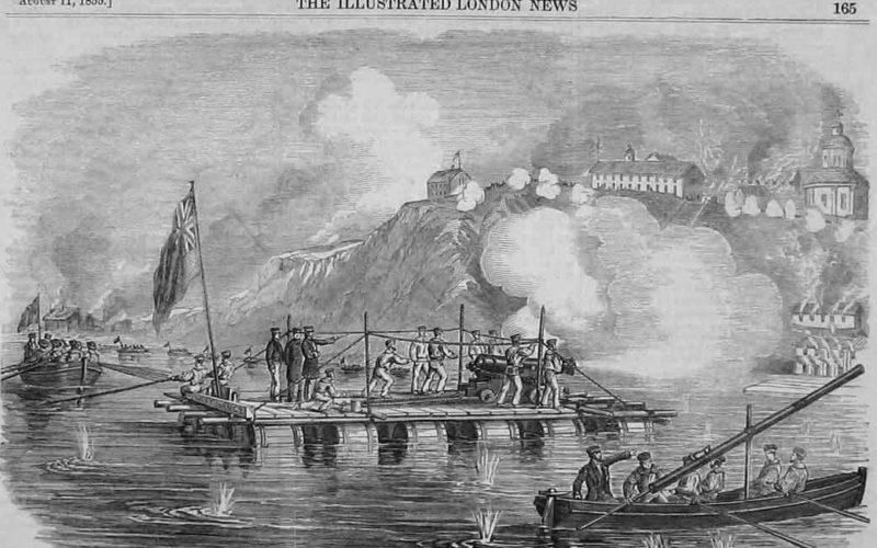 Оборона Таганрога - иллюстрация в Лондонской газете